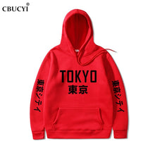 Load image into Gallery viewer, 2019 New Arrival Japan Harajuku Hoodies Tokyo City Printing Pullover Sweatshirt   Hip Hop Streetwear Men/Women Hooded Sweatshir