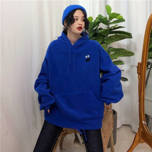 Load image into Gallery viewer, Hoodies Women Pockets Embroidered Cartoon Trendy Cute Female Loose BFplus Velvet Womens Long Sleeve All-match Lovely Streetwear