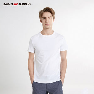 JackJones Men's T-shirt Elastic Cotton Top T shirt Knitted Leisure Wear for menswear 219191502