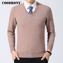 Load image into Gallery viewer, COODRONY Sweater Men Clothes 2019 Autumn Winter Cashmere Wool Pullover Sweaters Plus Size Business Casual V-Neck Pull Homme 8128