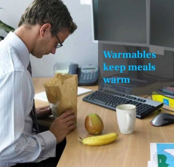 Food Warmer Sleeve in aqua Neoprene