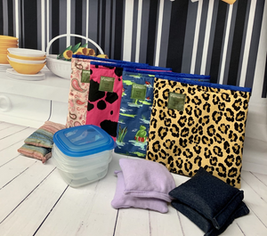 Load image into Gallery viewer, Complete Children's Lunch Box Kits, pink paisley