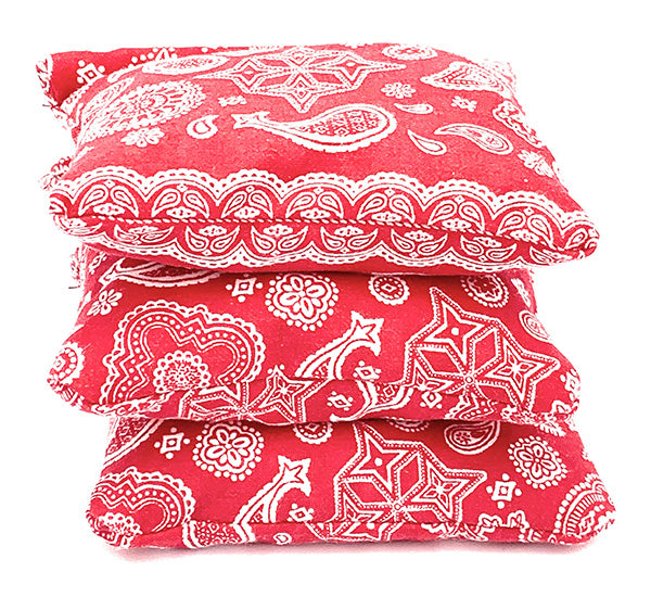 LUNCH BOX WARMERS, 3-pack red paisley