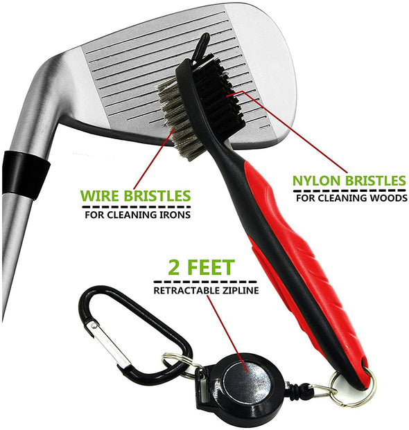 Golf Club Cleaner With Zip Line Attachment