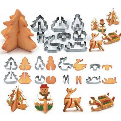3D Christmas Cookie Cutters | TRB