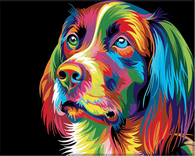 Colorful Dog - MonetArt Kit