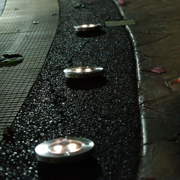 LED Solar Powered In-Ground Lights - Solar Pathway Lights | TRB