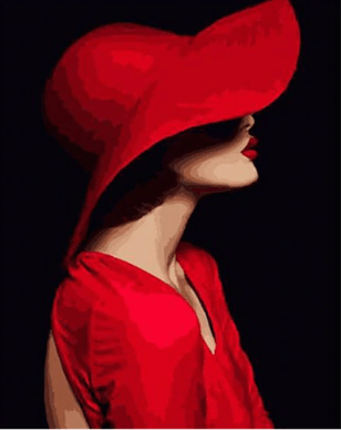 Lady In Red - MonetArt Kit