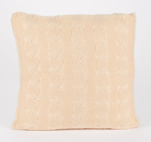 Cable Knit Square Pillow