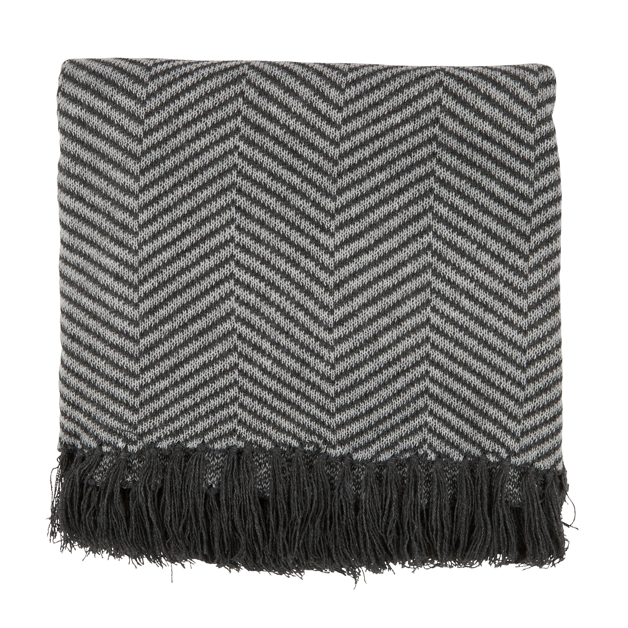 Fringe Throw - Herringbone