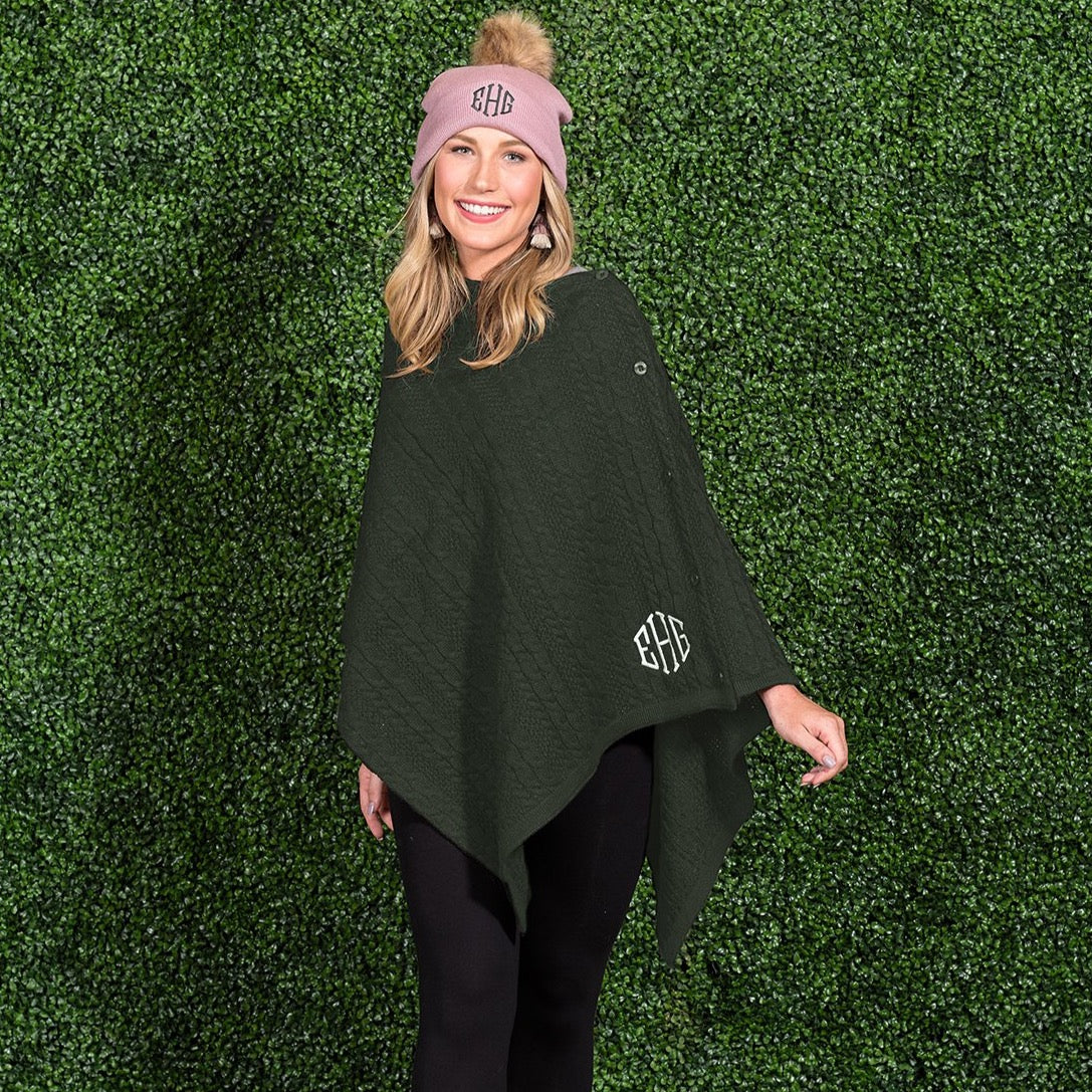 Buttoned Up Poncho