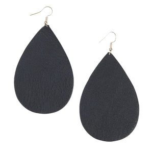 Teardrop Earrings - Navy