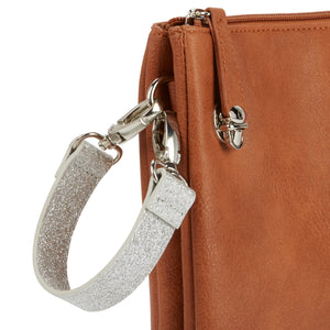 Wide Wristlet Strap - Silver Glam