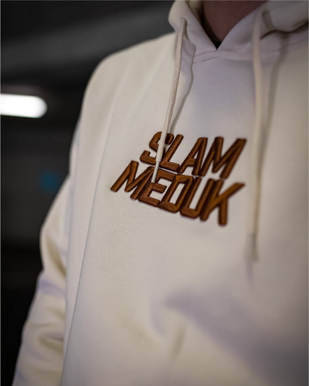 SLAMMEDUK 3D Embroidered Hood - Cream