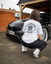 SlammedUK Garage T-Shirt - White