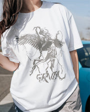 Spark Angel Oversized T-Shirt - White