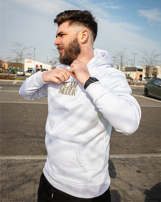 SLAMMEDUK 3D EMBROIDERED HOOD - WHITE / MULTIVERSE
