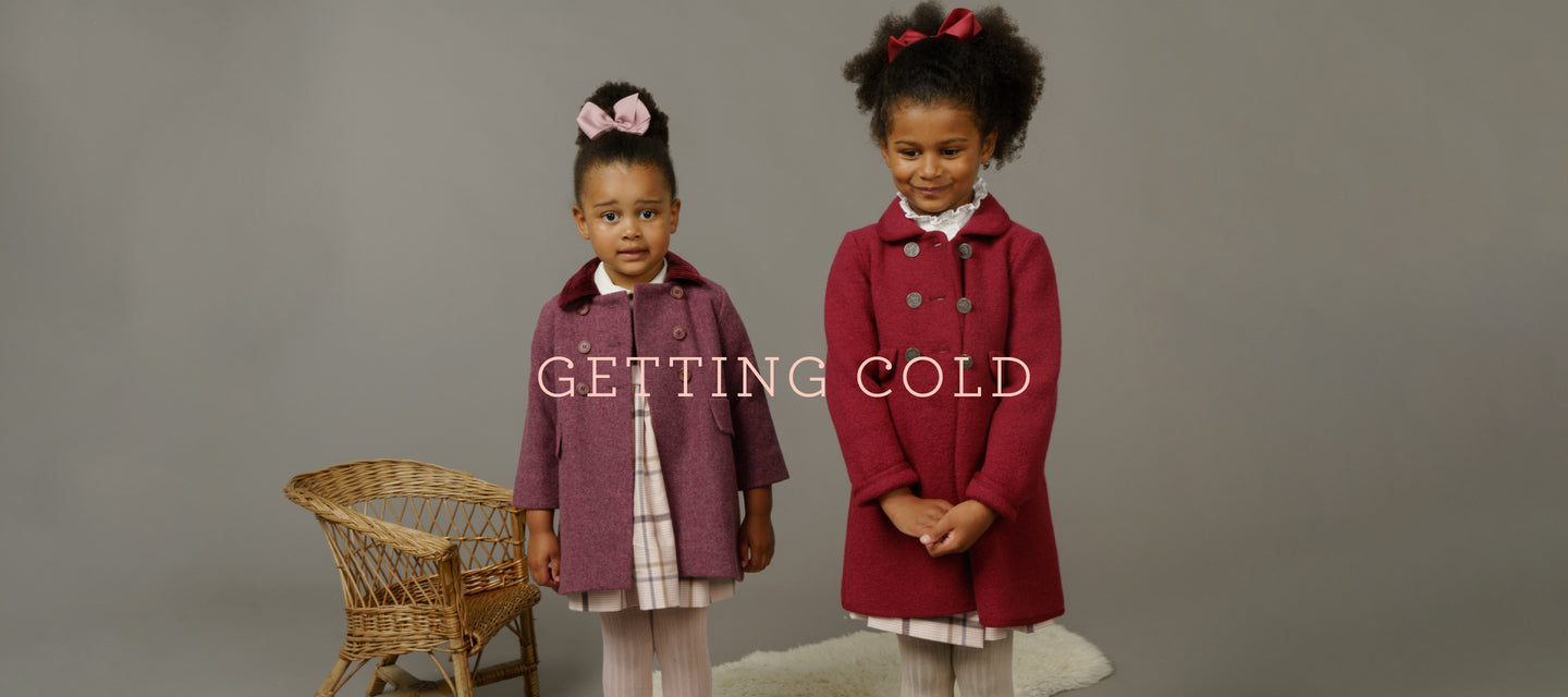 Classic children's coats for girl's and boys. Made in Spain