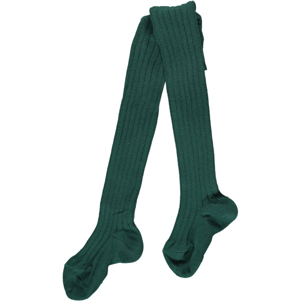 RIBBED TIGHTS - GREEN
