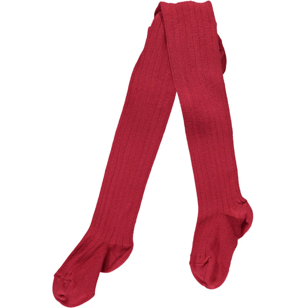 RIBBED TIGHTS - CHERRY