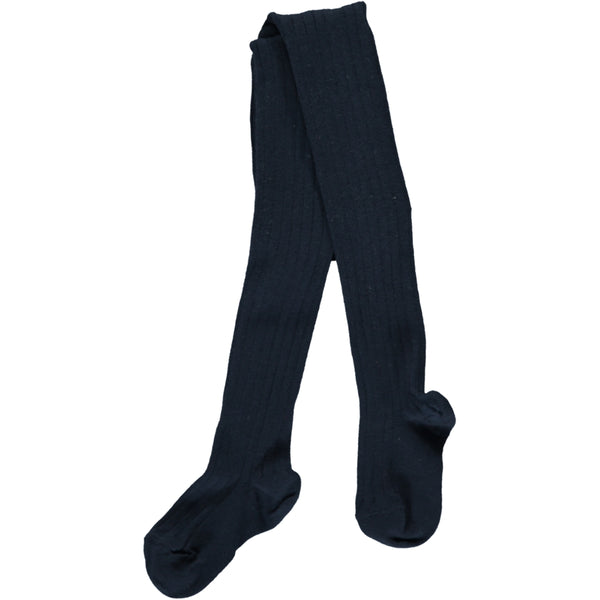 RIBBED TIGHTS - NAVY