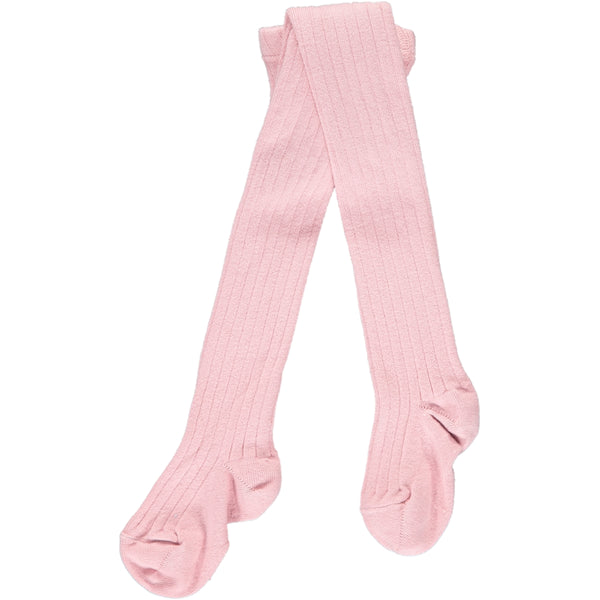 RIBBED TIGHTS - LIGHT PINK