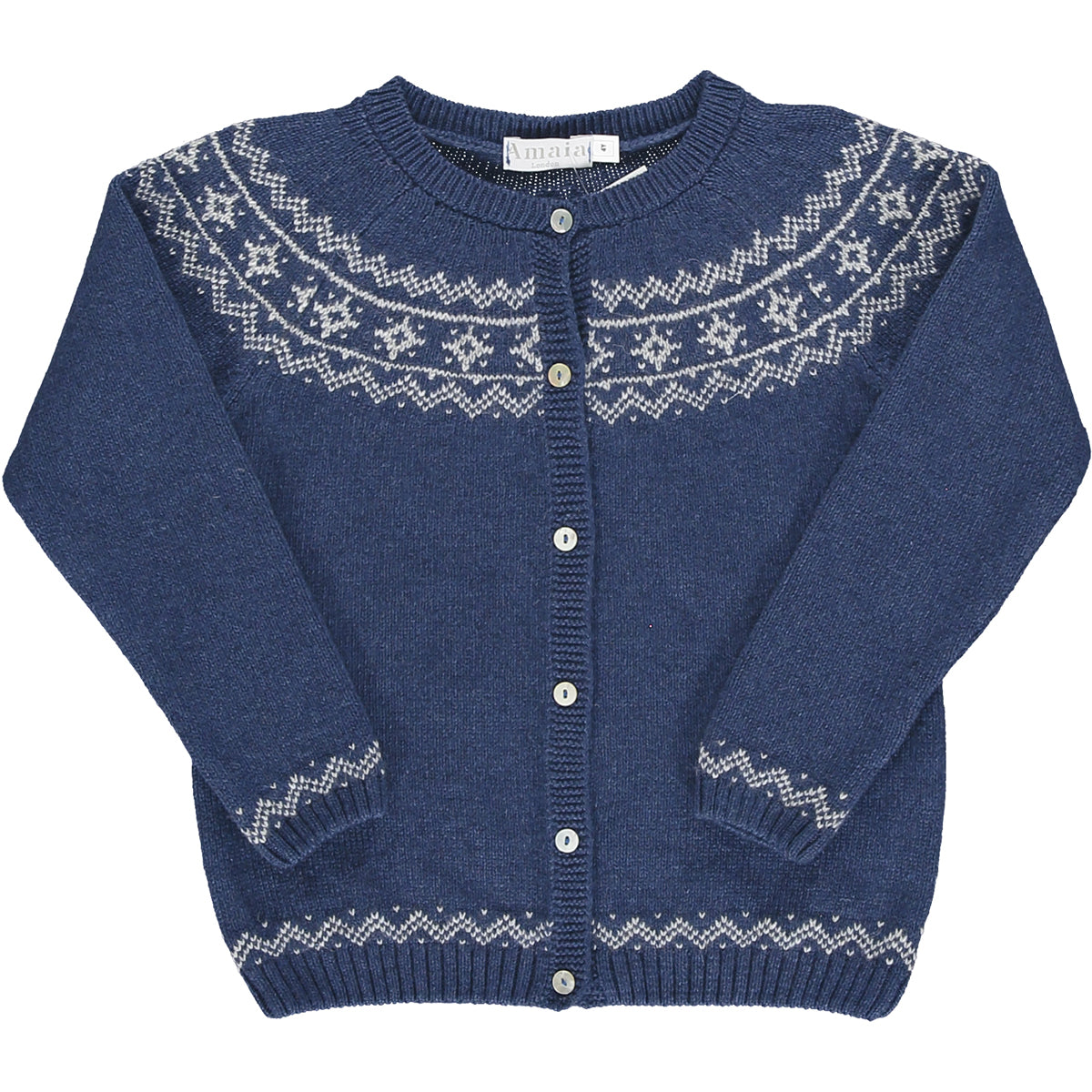 Marie Fairisle Cardigan Medium Blue