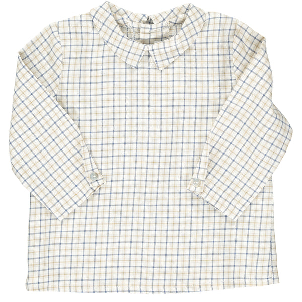 Mallard Shirt Blue/Beige Check