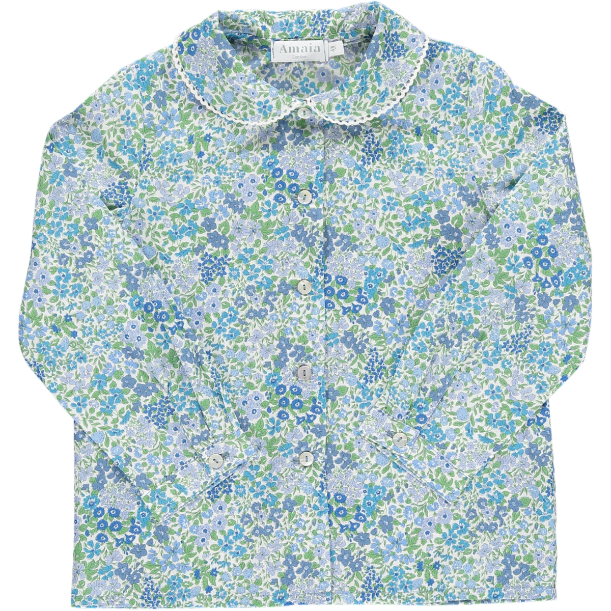Coline Blouse Blue/Green Floral Liberty