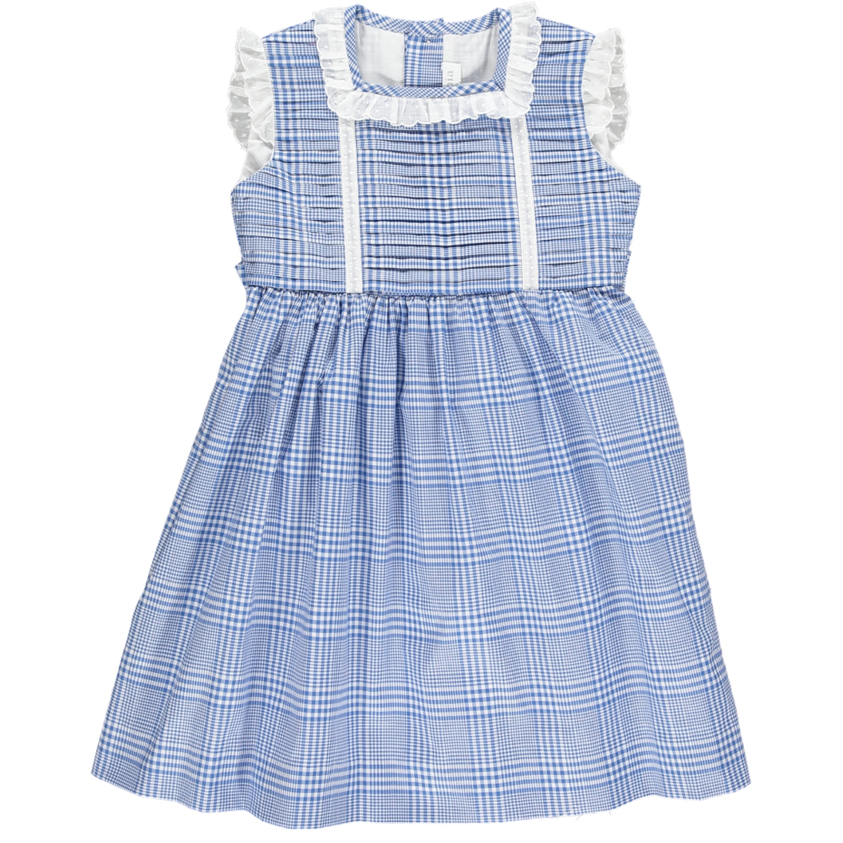 Ariana Dress Big Check Navy