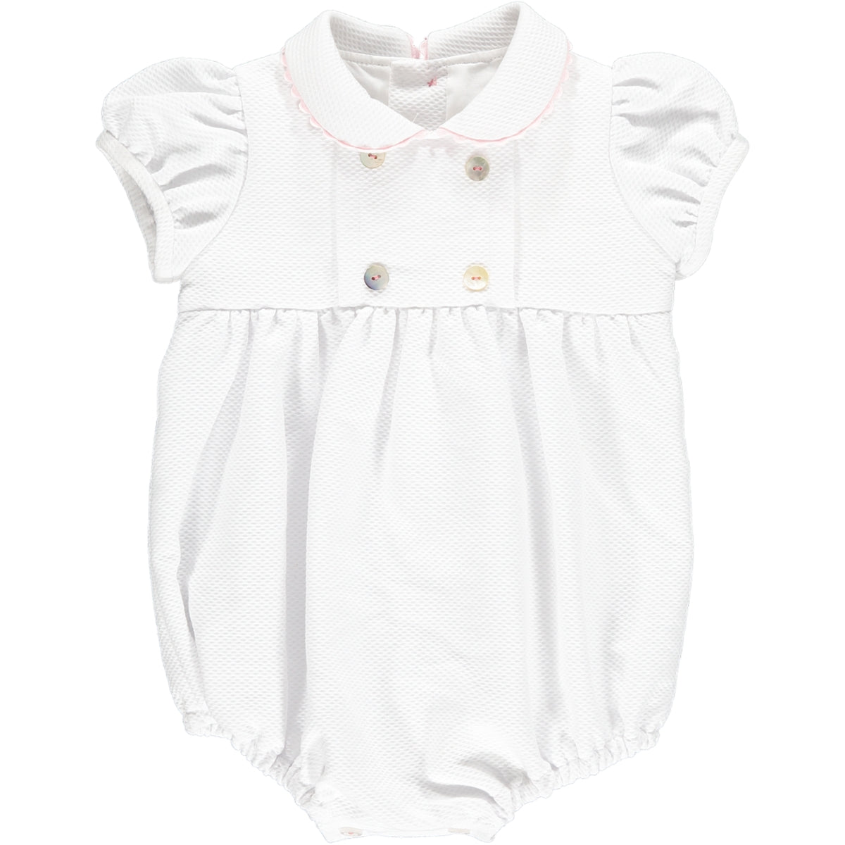 Babydoll Romper White/Pink