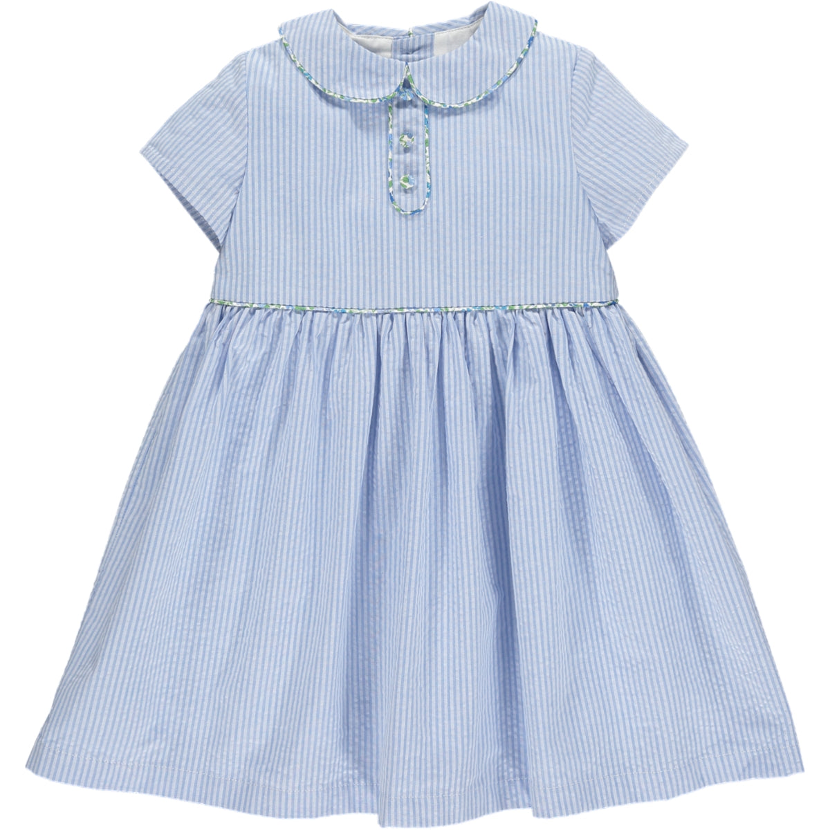 Bristol Dress Light Blue Seersucker