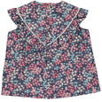 Aurelie Top Plum Floral Liberty