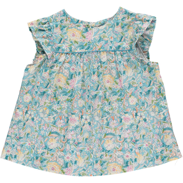 Lise Girl Top Turquoise Multico