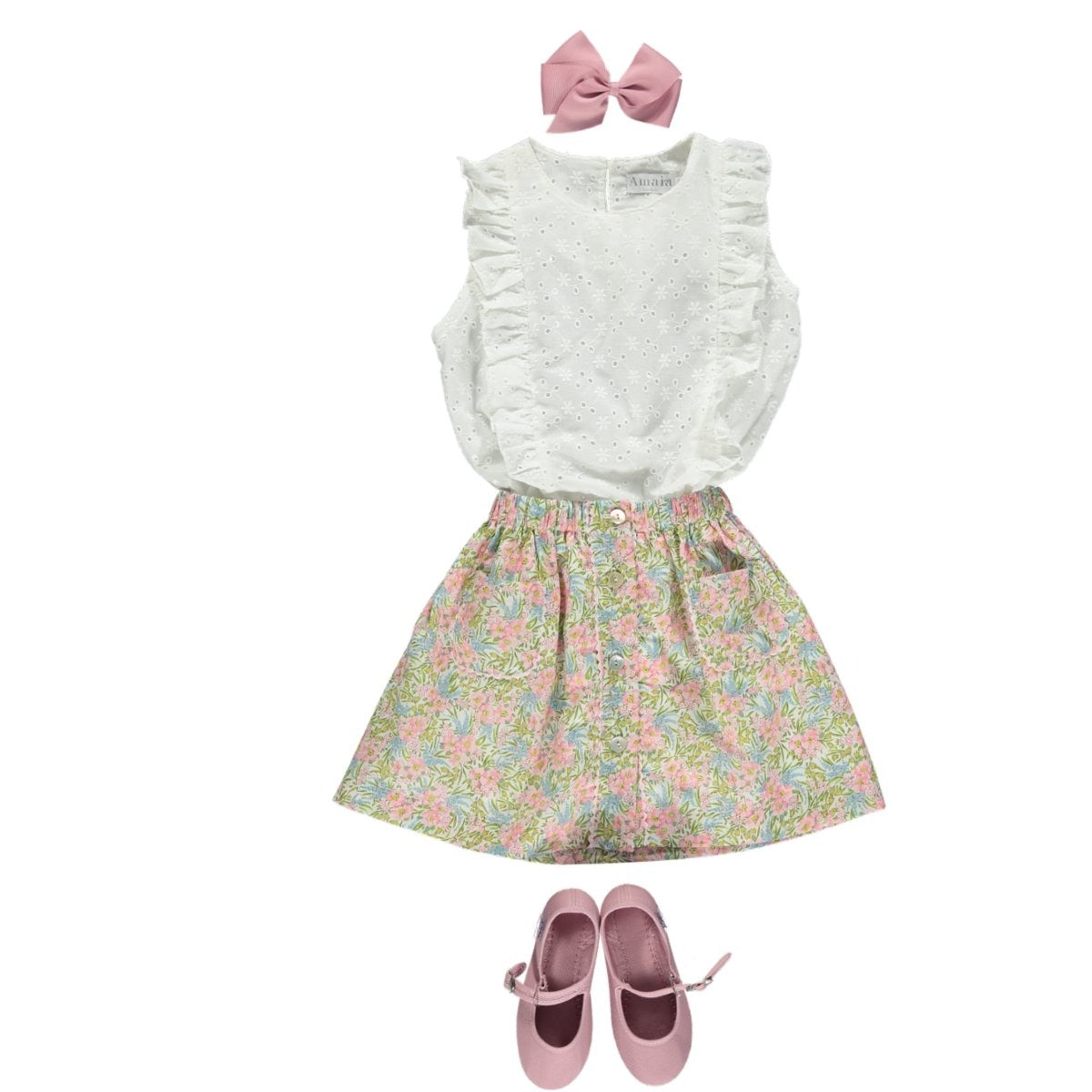 Swirling Petals Liberty girl look