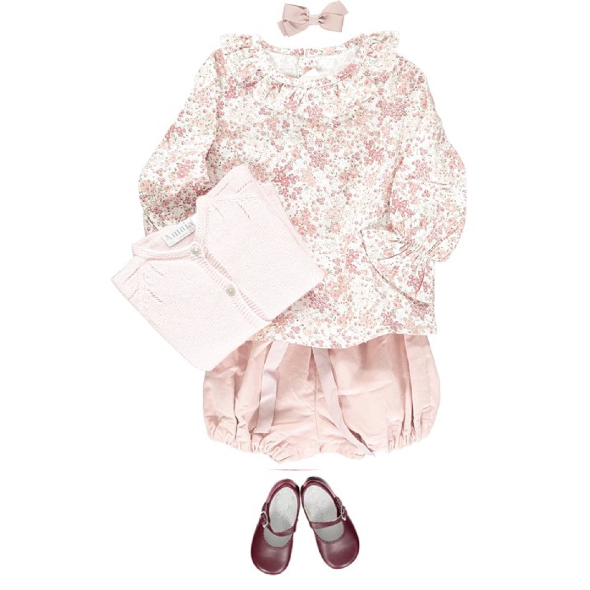 Amelia floral baby girl look