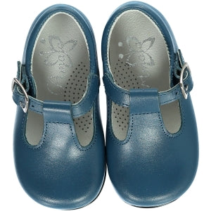 Baby Boy T-Bar Shoes Denim Blue