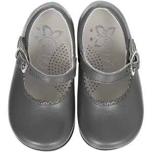 Grey Baby Girl Shoes
