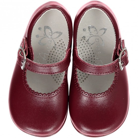 Burgundy Baby Girl Shoes