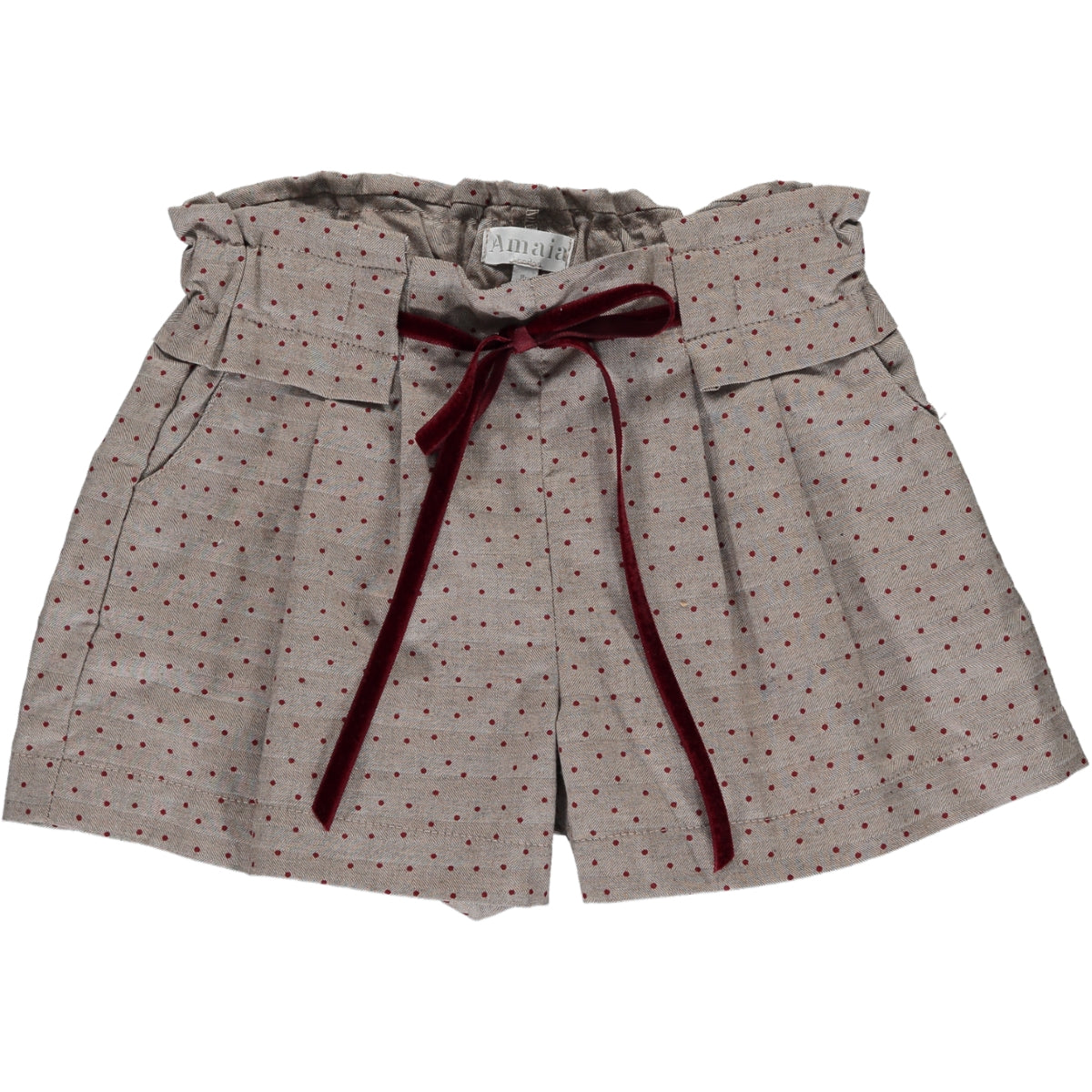 Betty Short Brown Herringbone