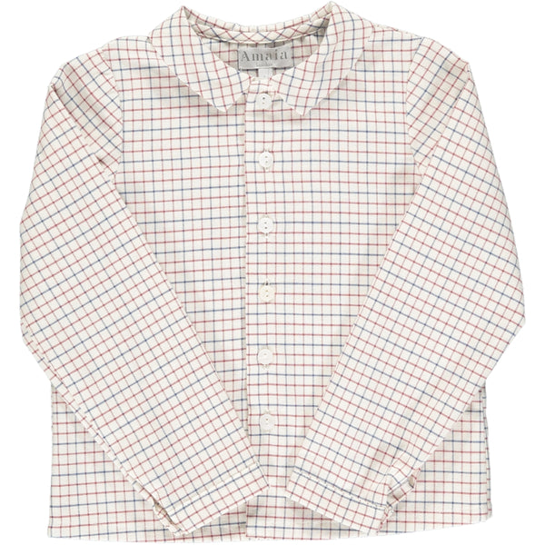 Chikadee Shirt Blue/Red Check