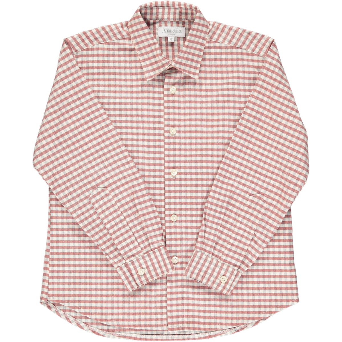 Chickadee Shirt Red/Grey Check