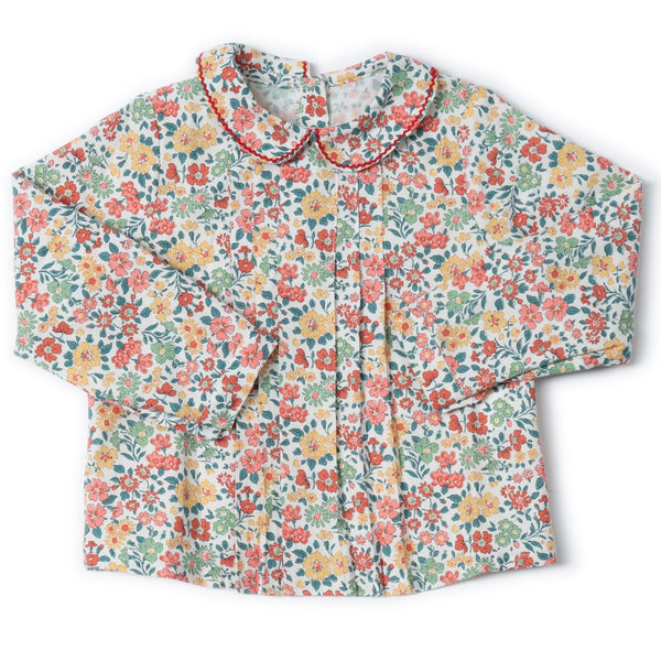 Coline Blouse Christmas Liberty print