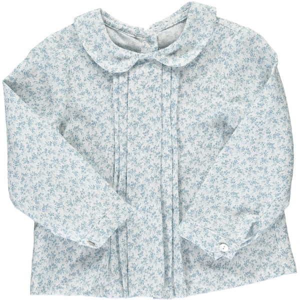 Coline Blouse Dusty Blue Minifloral
