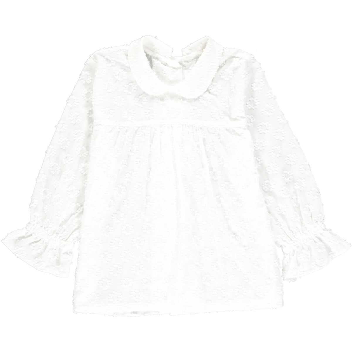 Coline Blouse Off-White Jacquard