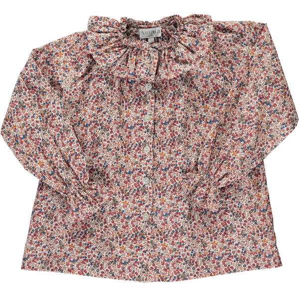 Gloria Blouse Brown Floral Liberty print