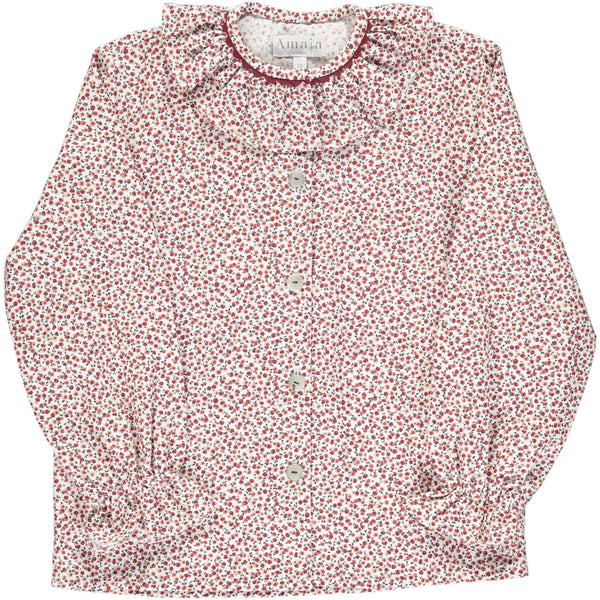 Gloria Blouse Cherry print