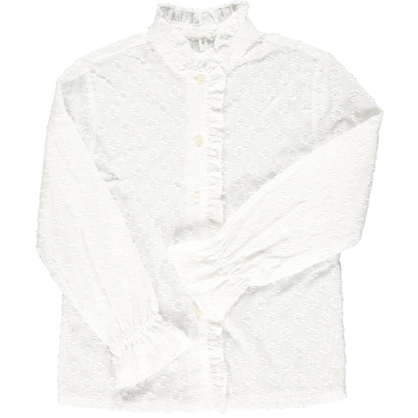 Greta Blouse Off-White Jacquard