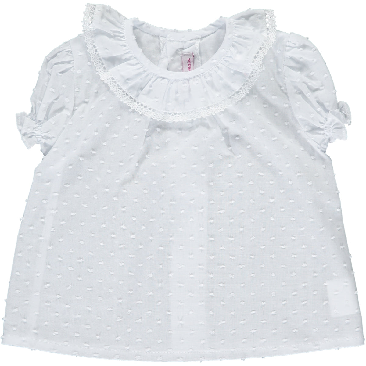 Kensington Top White Plumeti