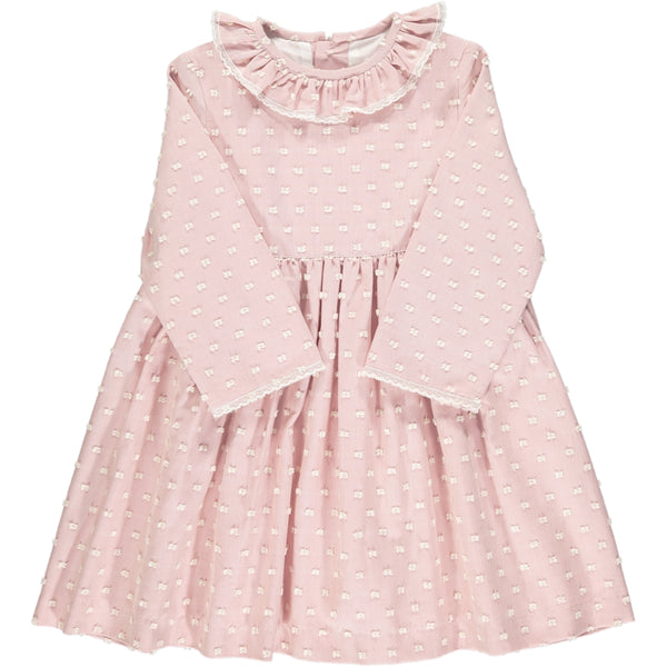 Lana Dress Dusty Pink Plumetis
